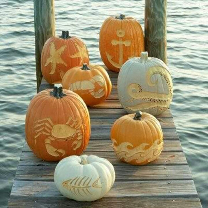 Pumpkin Art- perfect for a fall beach wedding :) I want a fall wedding while baby wantS to get married over the ocean. I'll make this work (;