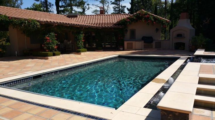 rectangular pool ideas traditional with outdoor kitchen cleaning supplies -  byrneseyeview.com