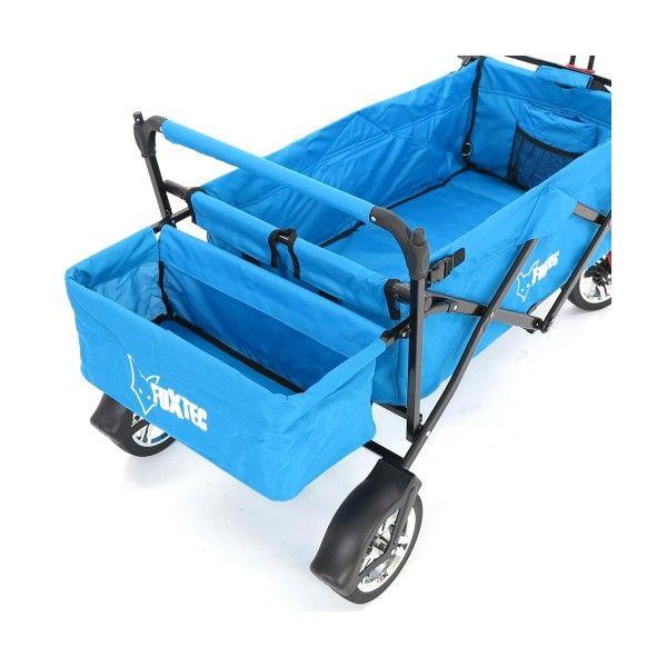 FUXTEC wózek wielofunkcyjny - transportowy CT500 turkusowy plażowy