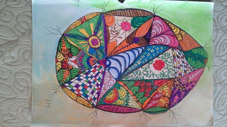 Egg doodle. Original on A4 sketchpaper.