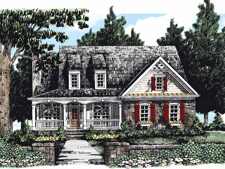 Country House Plan with 1549 Square Feet and 3 Bedrooms(s) from Dream Home Source | House Plan Code DHSW38752