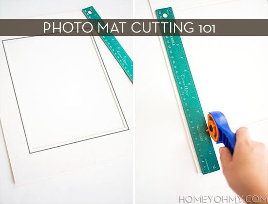 properly cutting photo mats >> Curbly | DIY Design Community