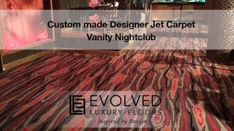 Custom Made Designer Jet Carpet - Vanity Nighclub by Evolved Luxury Floors