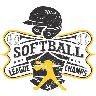 softball league champs vector t shirt design