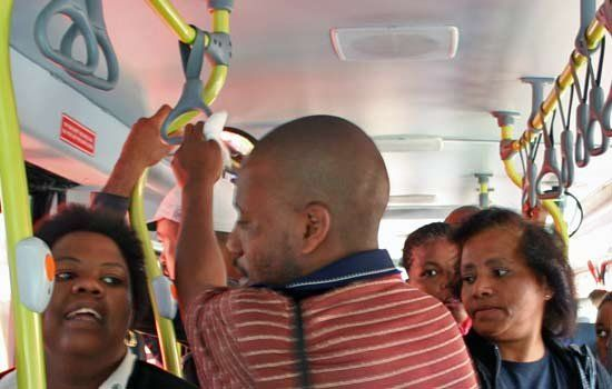 On board the BRT system
