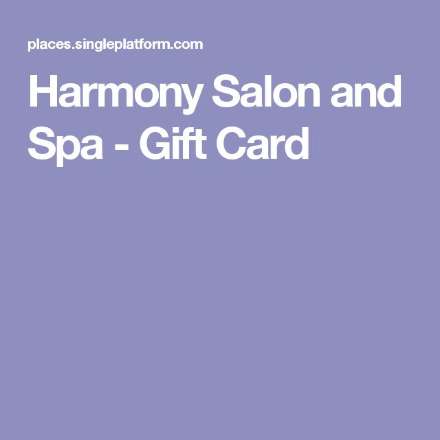Harmony Salon and Spa - Gift Card
