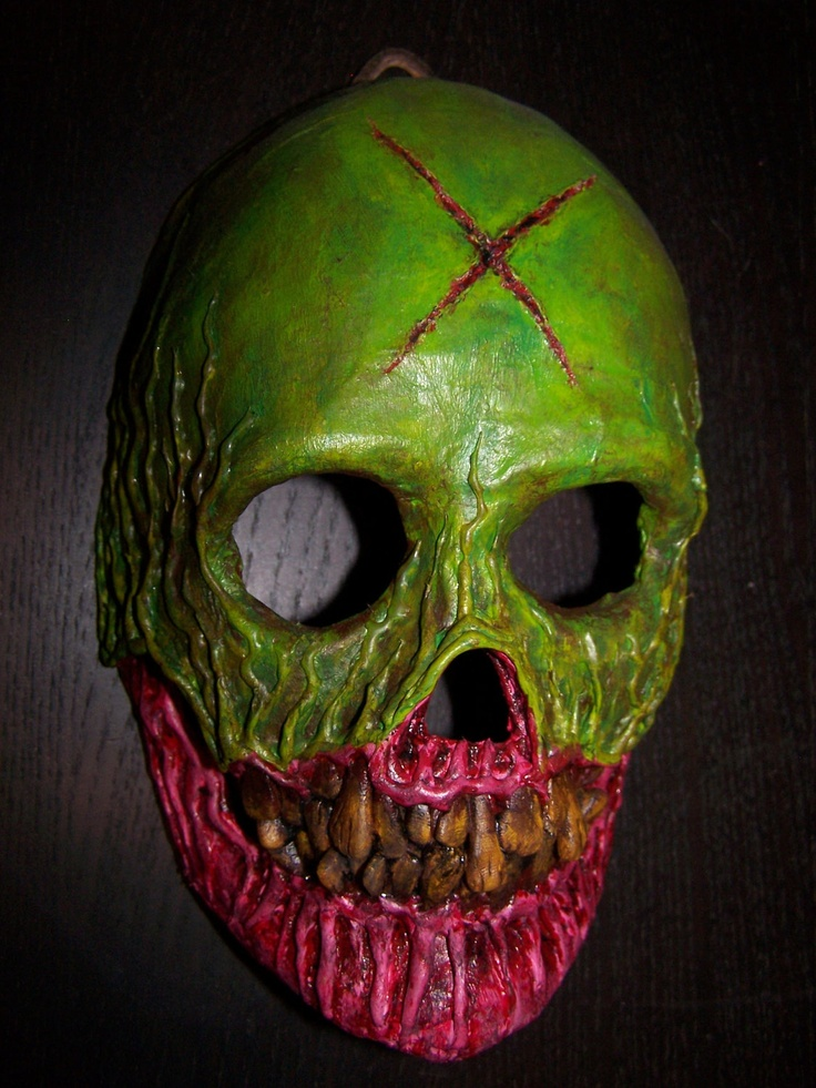 The Creeper original Paper Mache Skull Mask. $60.00, via Etsy.