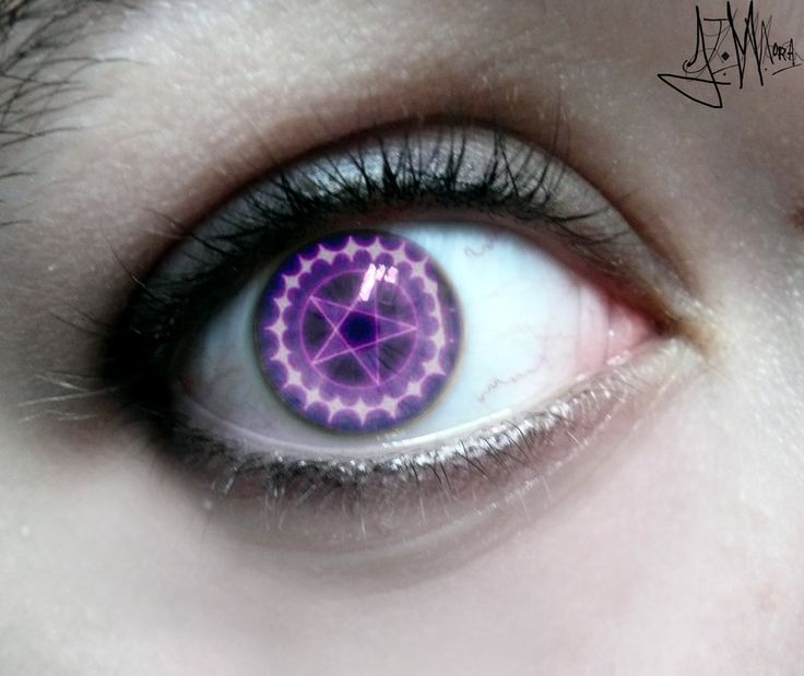 Eye Art...Awesome Eye Contacts | Ciel Phantomhive eye contacts...By Artist AniTheHedgehog13...