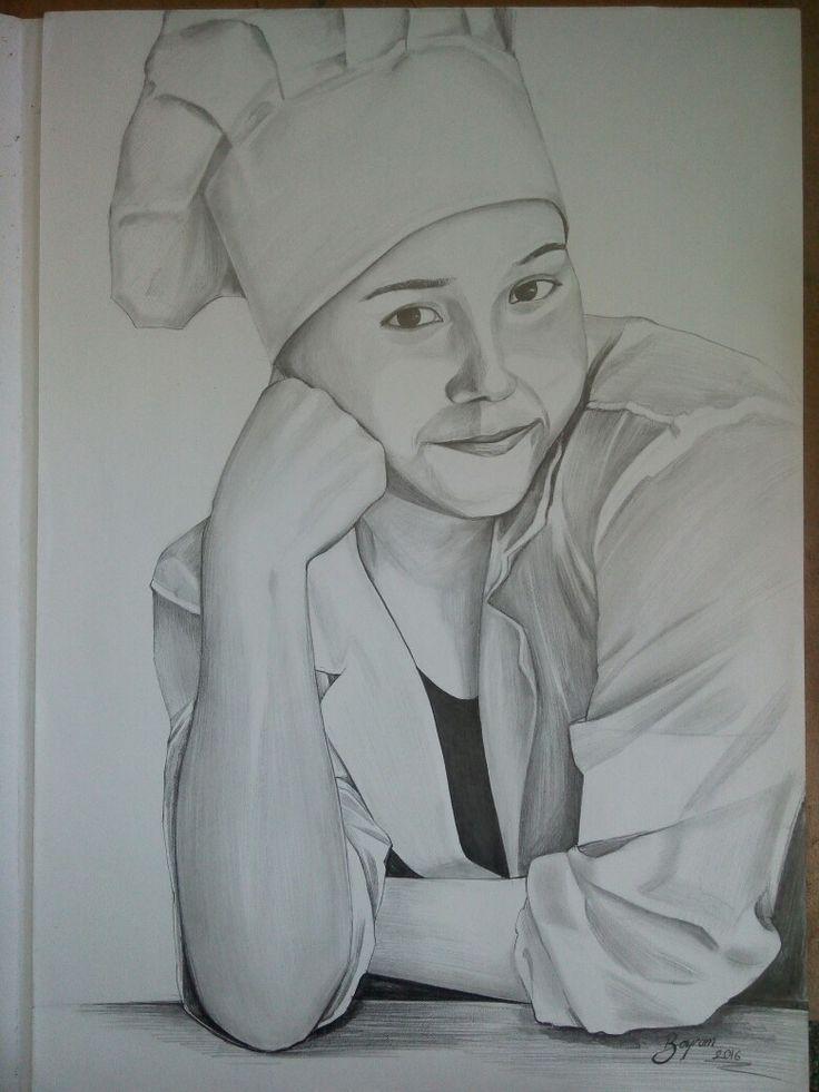 charcoal portrait.