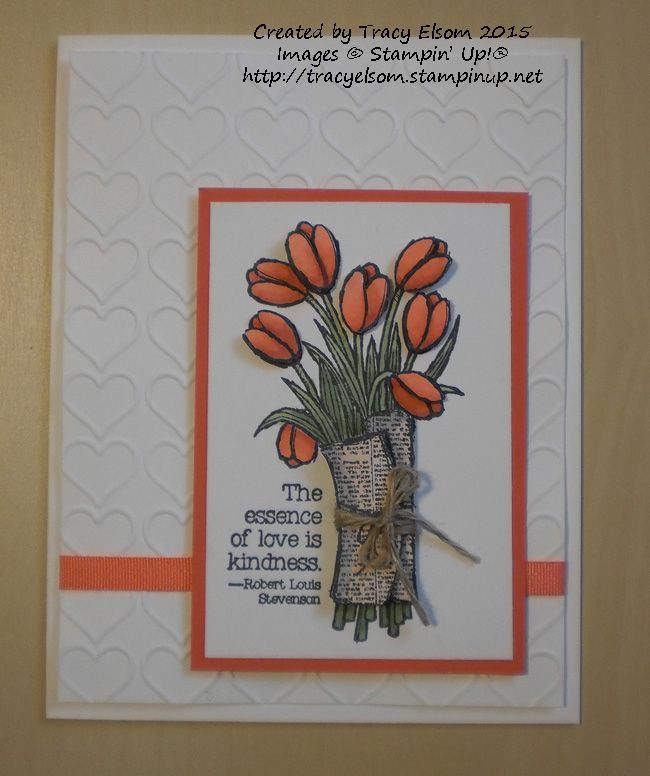 Card created by Tracy Elsom using the Love is Kindness stamp from the Stampin' Up! 2015 Occasions Catalogue available January 6. http://tracyelsom.stampinup,net