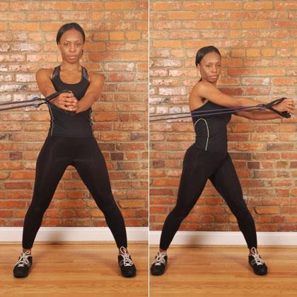 Band Torso Rotation (6 Strength Exercises Every Runner Should Be Doing) Total Body Workout