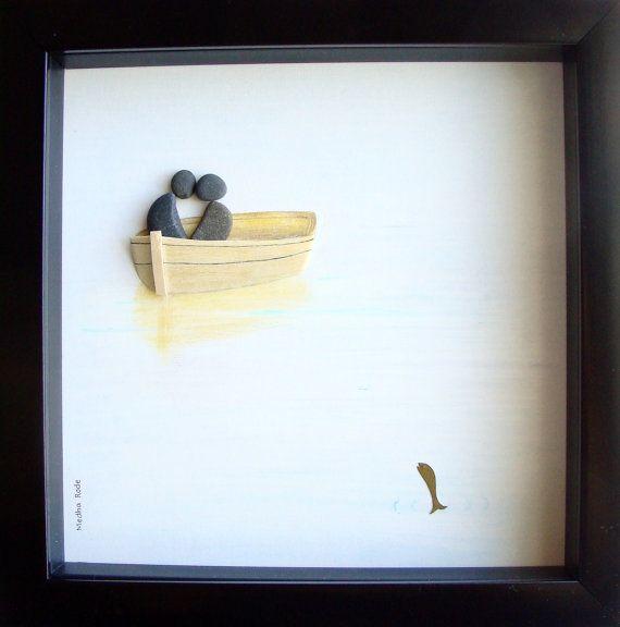 ... COUPLE Gift- Wedding Gift- Pebble Art- Love Gifts Gifts, Kunst and