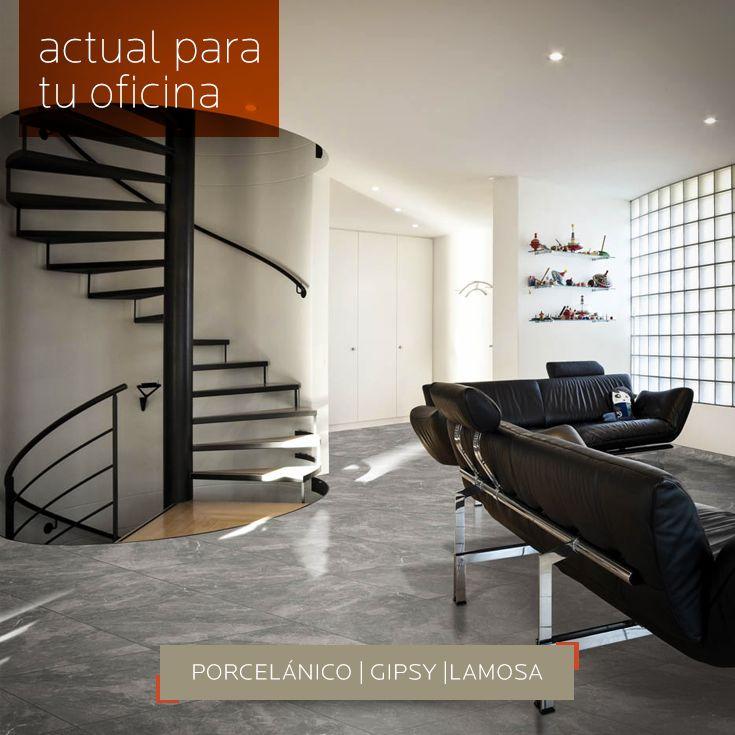 ACTUAL PARA TU OFICNA | Decora tu #piso de tu #oficina con el #porcelánico #marmoleado mate Gipsy de Lamosa. Conoce más sobre medidas y especificaciones aquí en DECERAMICA.COM