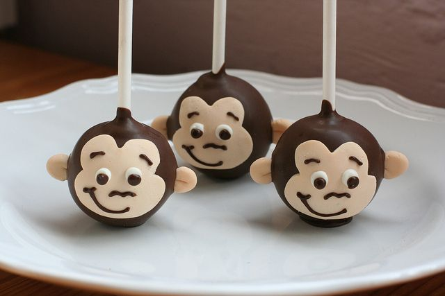Curious George Cake Pops by Sweet Lauren Cakes, via Flickr
