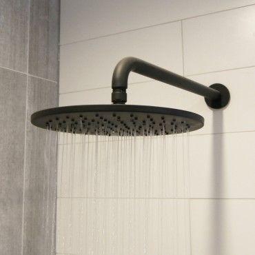 Eden Nero 250mm Round Shower Head