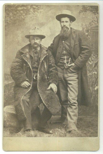 Nostalgia Taken in 1880 of 2 Cowboys, uncertain of their location, they obviously were posing. #BackToTheFuture...