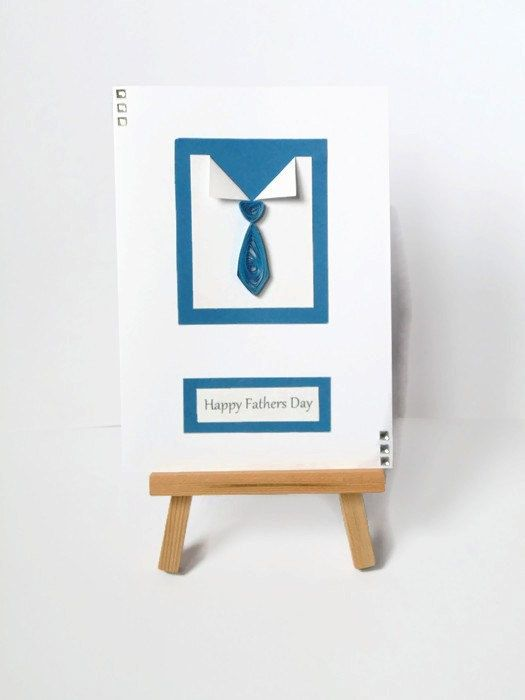 Quilled tie Fathers day card Fathers day card by KaisCards on Etsy