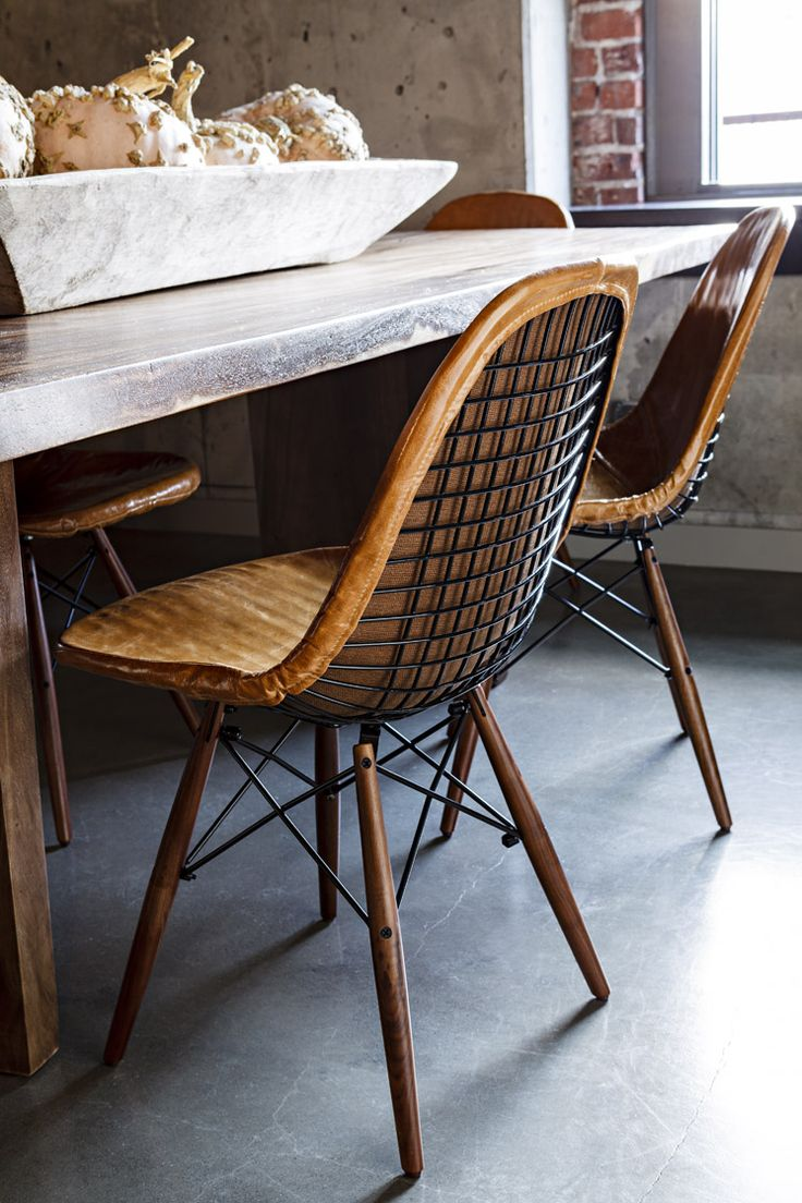 Wood swivel desk chair laquered finish warms amp padded seat ebay - Jessica Helgerson Interior Design Portland Loft Dining Chairs Lincoln Barbour 1 Est Eames Chairswood Chairsdesk