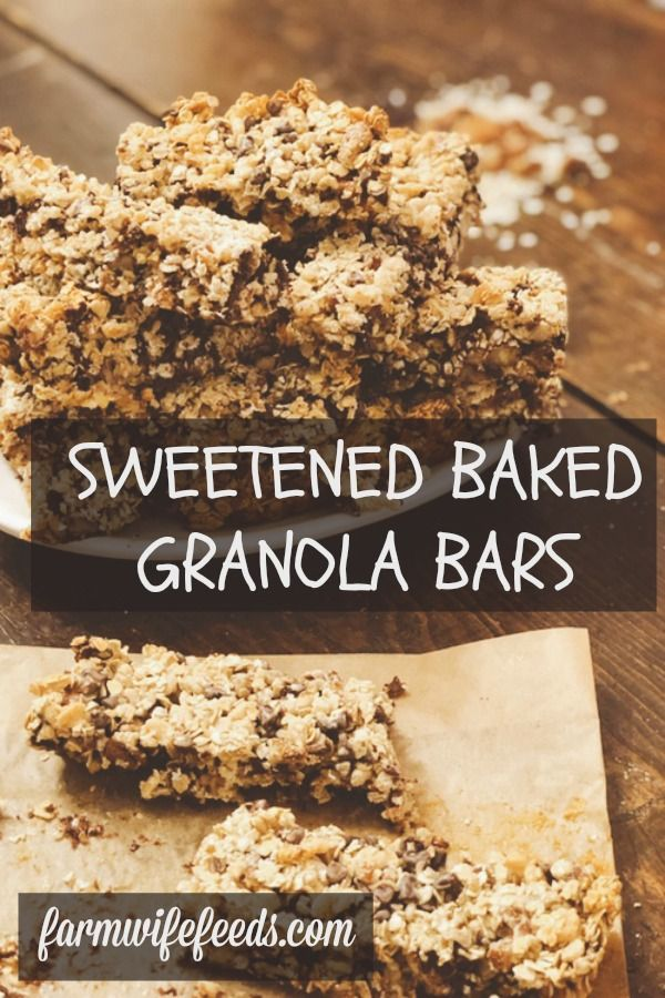 Sweetened Baked Granola Bars From Farmwife Feeds Uses Sweetened Condensed Milk Hold These Easy To Make Granola In 2020 No Bake Granola Bars Baked Granola Granola Bars