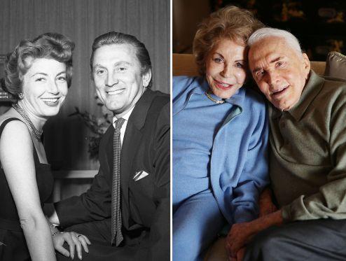 Kirk Douglas and Anne Buydens - Bettmann Archive/Getty Images; Matt Sayles/Invision/AP Photos