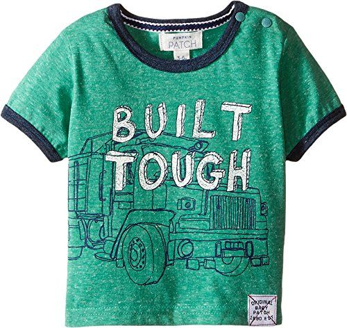 Pumpkin Patch Kids Baby Boys Built Tough Tee Infant Canton Green TShirt *** Want additional info? Click on the image.