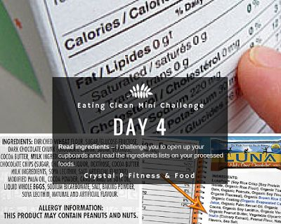 Day 4 - Eating Clean Mini Challenge