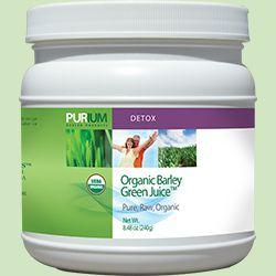 Purium's Organic Barley Green Juice™ is grown in pristine fields and watered with mineral springs to ensure it has nature's maximum nutritional input. It contains highly assimilable chlorophyll, which is important for total nutrition.    May support healthy cholesterol levels  May support natural detoxification  May support healthy blood sugar levels when taken between meals $56.95