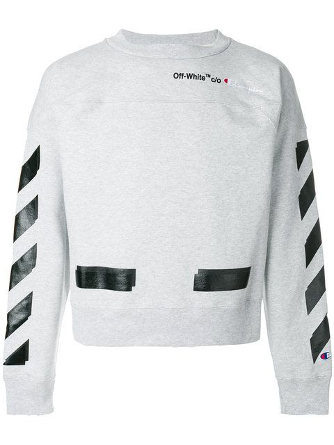 a188f3685 OFF-WHITE Off-White x Champion crew neck sweatshirt. #off-white #cloth #