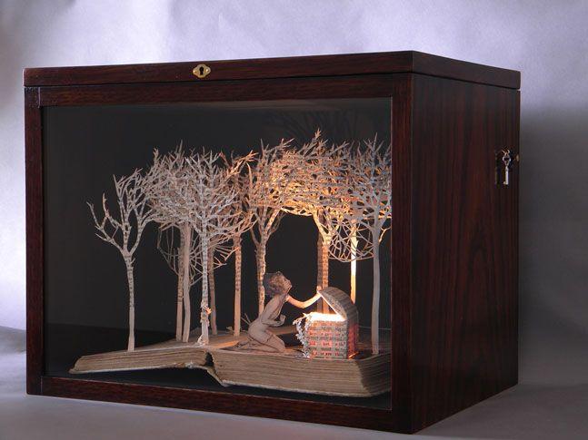 Pandora Opens the Box, 2009, book-cut sculpture                                                                                                                                                                                 More