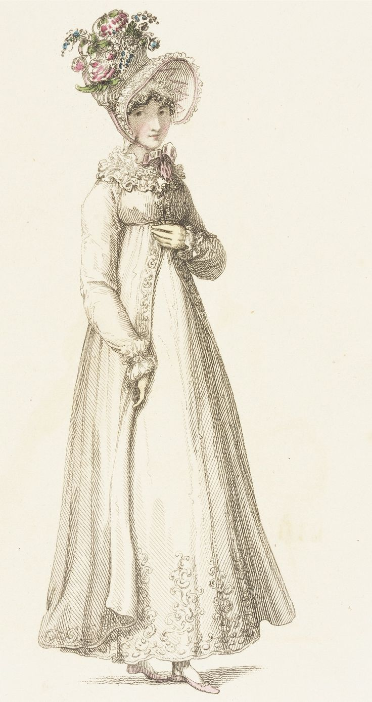 Fashion Plate (Morning Dress) Rudolph Ackermann (England, London, 1764-1834), England, London, August 1, 1818