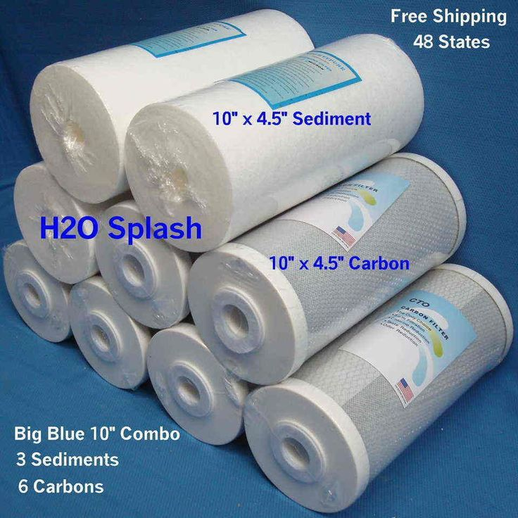 "10"" Big Blue 3 Sediment 6 Carbon Water Filter Replacement"