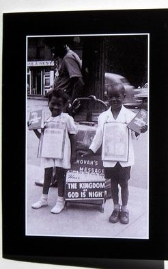 Vintage picture of two young witnesses.  So sweet