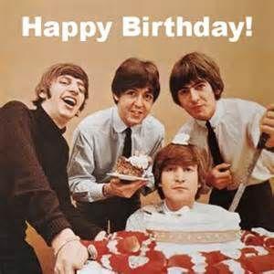 Beatles Happy Birthday!  Ringo, Paul, George and John