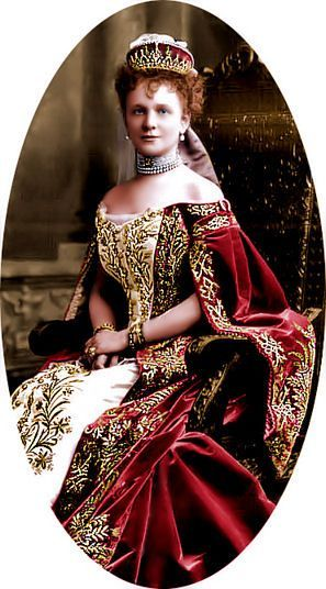 Russian court dress. Baroness Maria Graevinitz, the wife of Baron G. A. de Graevinitz, a Russian diplomat. 1900.