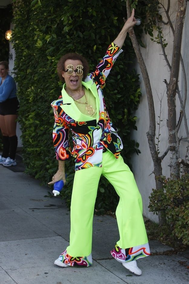 I'm here to remind you that Richard Simmons is still as Richard Simmons-y as he always was. Which means every day is Halloween for him.