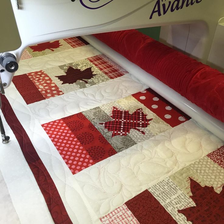"49 Likes, 8 Comments - Tammy Howard (@sugartownquilts) on Instagram: ""Jumping on the wagon. Canadian flag quilt. Pattern coming soon. I love making a red and white quilt…"""