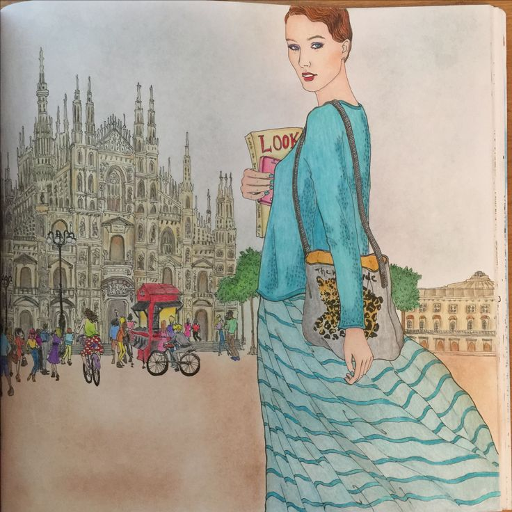 The Look coloring book by Suwa