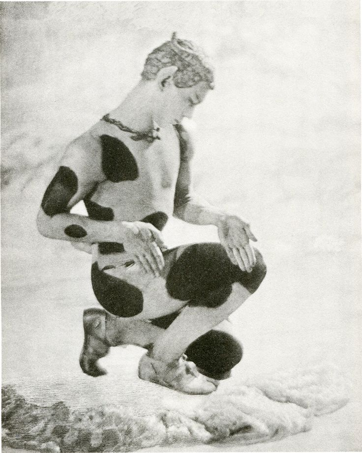 The greatest ballet dancer in history Vaslav  Nijinsky in the part of the Faun in 'The Afternoon of the Faun 'choreographed by Nijinsky himself for Ballet Russes Youtube : https://www.youtube.com/watch?v=Vxs8MrPZUIg