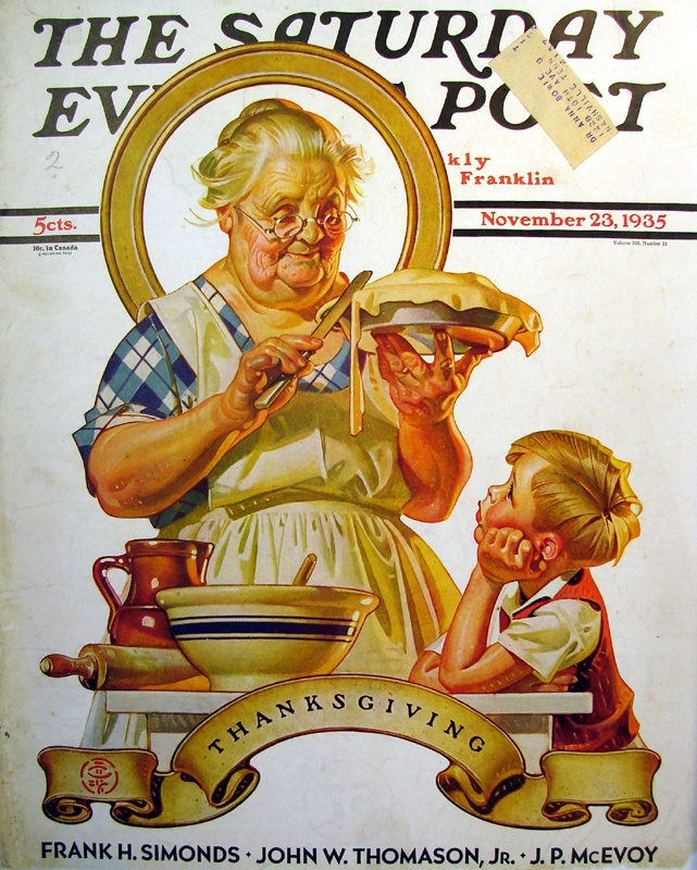 Thanksgiving ~ The Saturday Evening Post, Thanksgiving issue, November 23, 1935