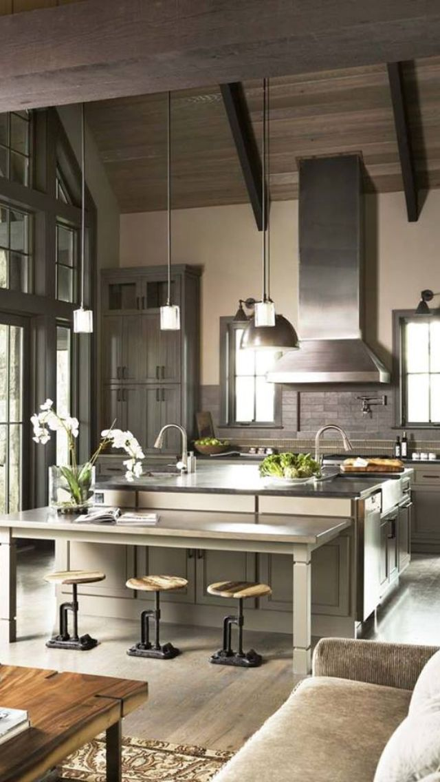 Not My Style But Like Kitchen With Open Floor Plan To Living Room