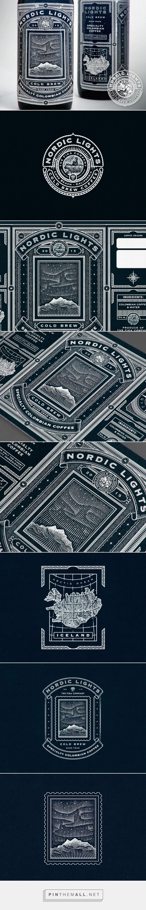 Typography  Nordic Lights Coffee packaging designed by Ye Olde Studio  created via pinthema