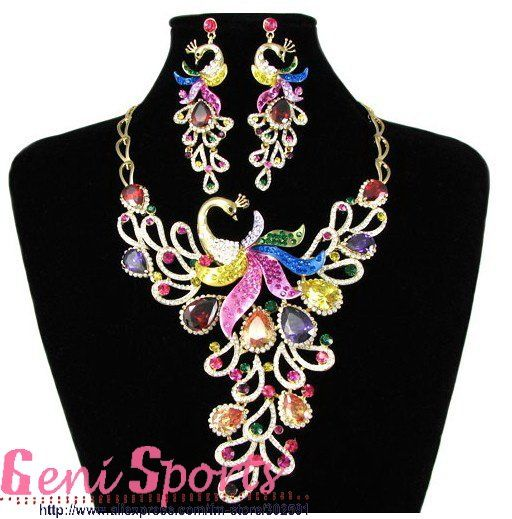 Beautiful Bridal Phoenix Jewelry Set for Free Shipping 2011 New Styles Necklaces and Earrings Sets-in Jewelry Sets from Jewelry on Aliexpress.com