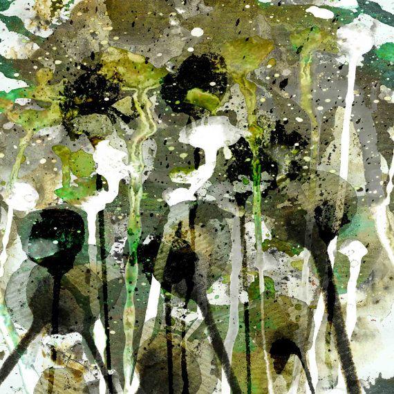 abstract mixed media limited edition print by PeachyArtandTreasure