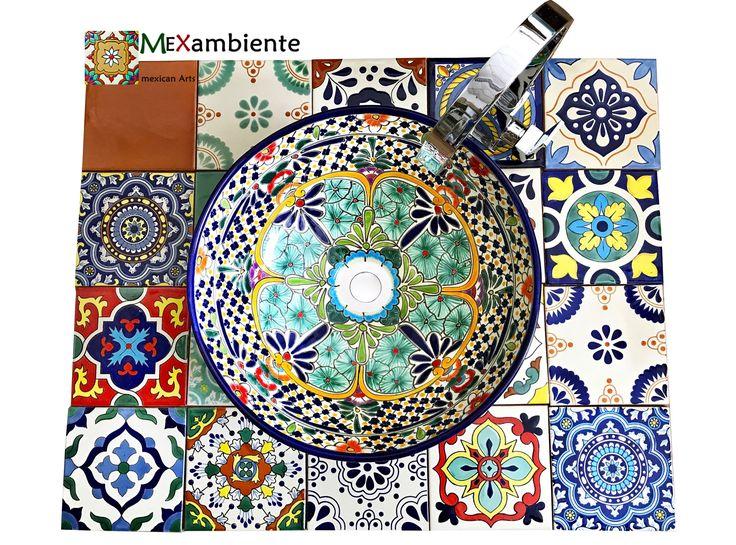 In unserem Shop finden Sie stilvolle Keramik aus Mexiko für Ihr Zuhause. Wir bieten Ihnen bunte Fliesen mit dem Flair von Mexiko, ausgefallene mexikanische Waschbecken und Kunsthandwerk zur Dekoration Ihrer Wohnung.   #badezimmer #fliesen #waschbecken #designfliesen #waschtisch #mexikanischewaschbecken #mexikanischefliesen #mexambiente #patchwork #zementfliesen #musterfliesen #buntefliesen #gästewaschbecken #gästewc