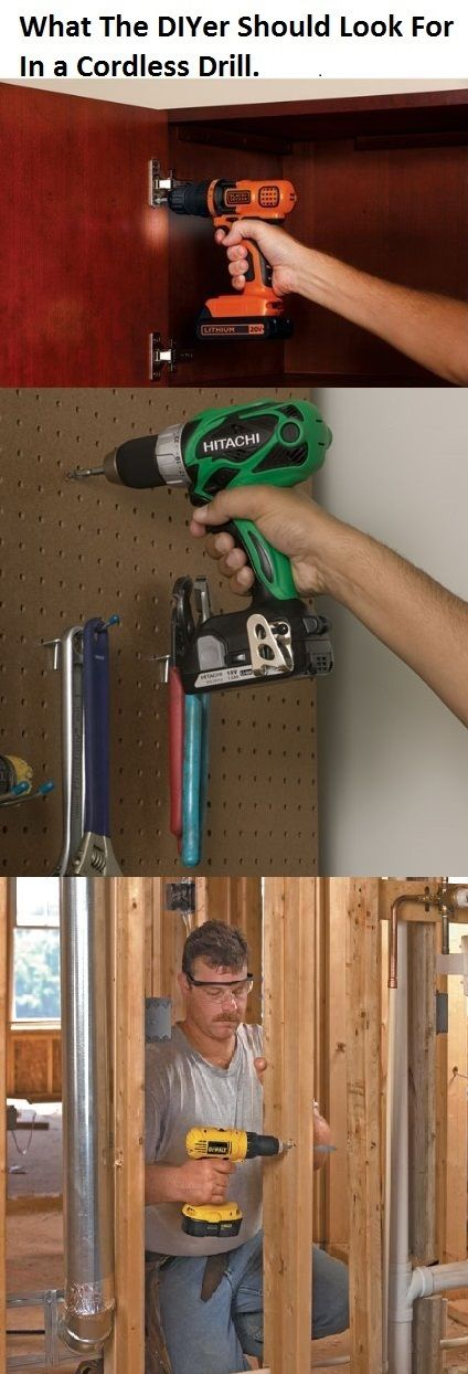 Find out how cordless drills are rated and what you need to look for to find the best drill for your needs. #cordlessdrill #diy   http://www.thediyhubby.com/cordless-drill-reviews/