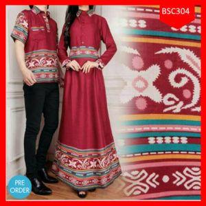 Fashion Baju Muslim Couple Soraya Red Terbaru