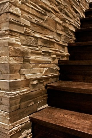 Easy Fit Dry Stack Ledge Stone Stair Wall