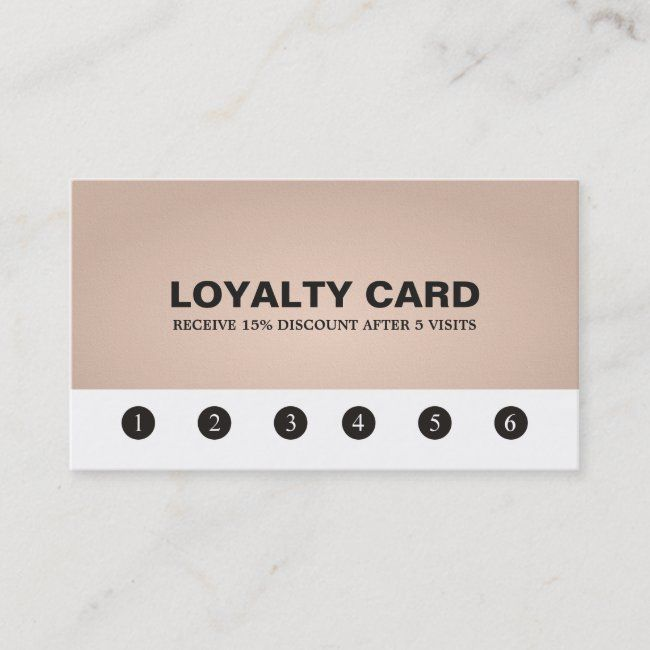 Elegant Texture Rose Beauty Salon Loyalty Card Zazzle Com Loyalty Card Loyalty Card Template Beauty Salon