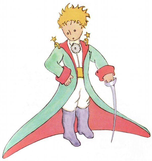 Antoine de Saint-Exupéry, The Little Prince, Harcourt, Brace & World, 1943. Illustrated by Antoine de Saint-Exupéry [Image via]