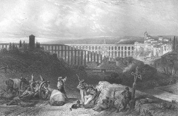 David Roberts | Segovia Aqueduct | 1837